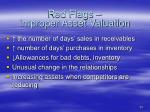 red flags improper asset valuation23