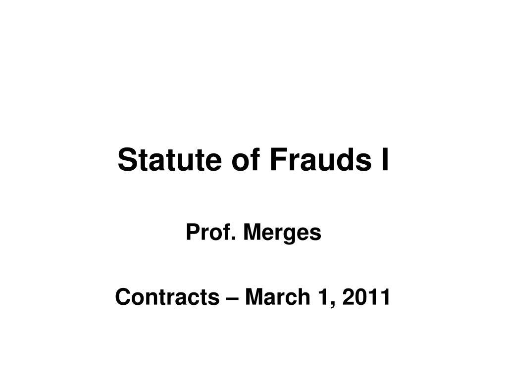 statute of frauds i l.