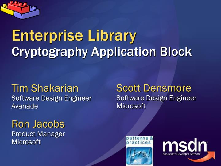 enterprise library cryptography application block n.