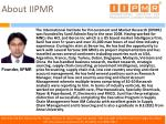 about iipmr8
