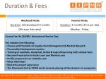 duration fees