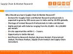 supply chain market research
