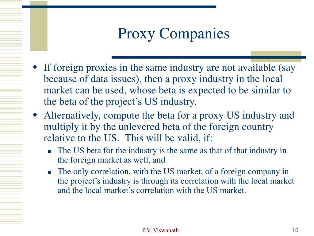 Proxy Companies