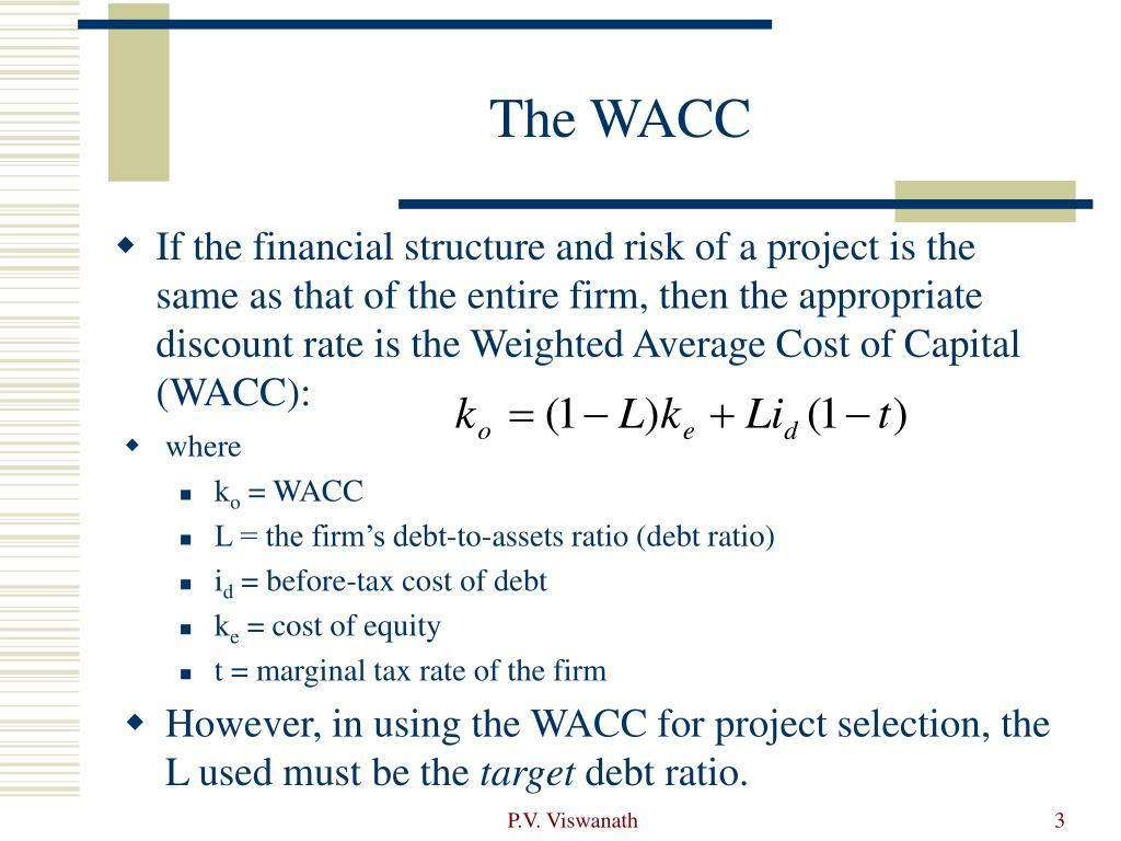 The WACC