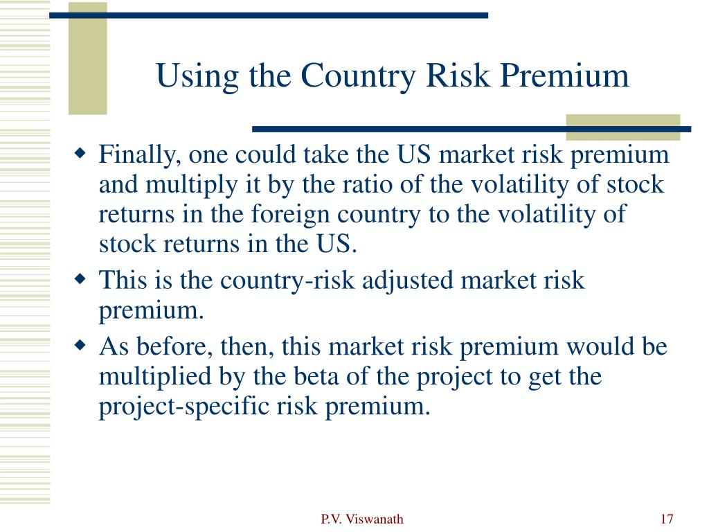 Using the Country Risk Premium