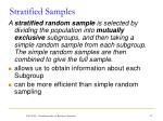 stratified samples