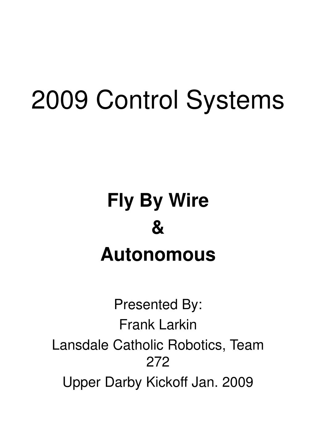 2009 control systems l.