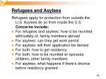 refugees and asylees