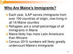 who are maine s immigrants