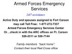 armed forces emergency services