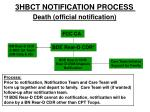 death official notification