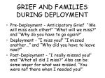 grief and families during deployment