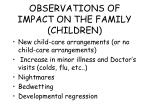 observations of impact on the family children