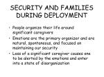 security and families during deployment