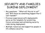 security and families during deployment82