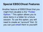 special ebscohost features