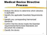 medical device directive process