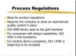 process regulations