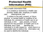 protected health information phi