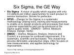 six sigma the ge way