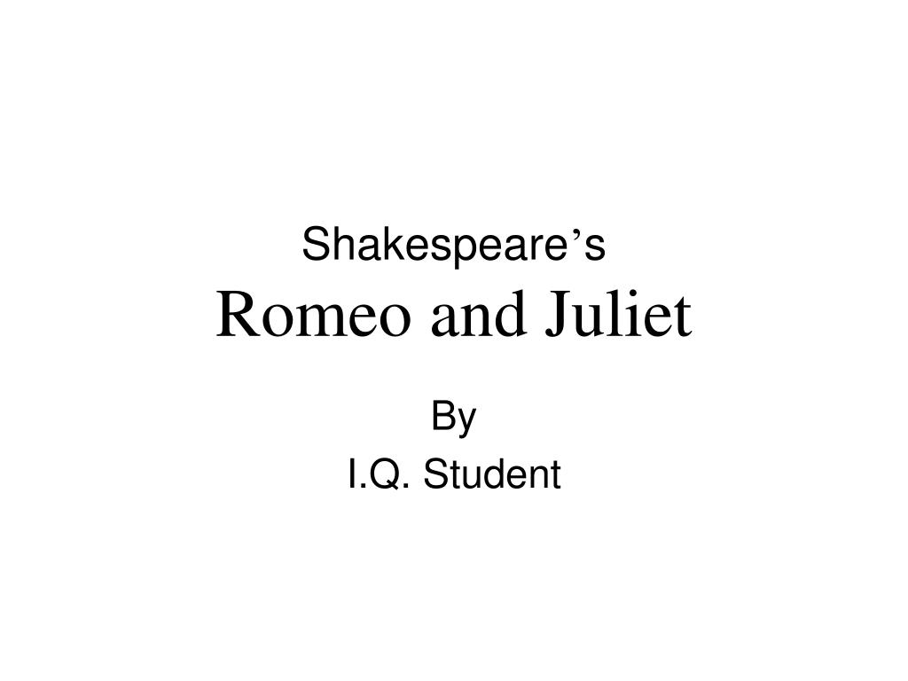 shakespeare s romeo and juliet l.