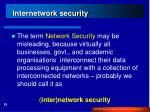 internetwork security