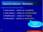 security attacks taxonomy