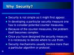 why security