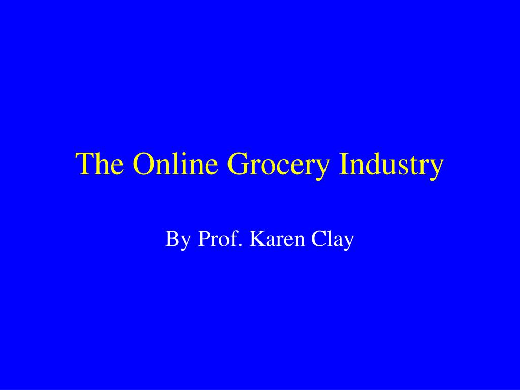 the online grocery industry l.