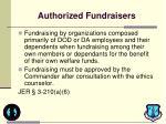 authorized fundraisers