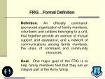 frg formal definition