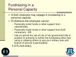 fundraising in a personal capacity