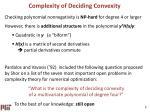 complexity of deciding convexity