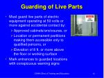 guarding of live parts