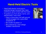 hand held electric tools