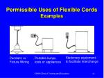 permissible uses of flexible cords examples