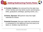 adding subtracting family roles