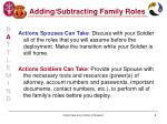 adding subtracting family roles9