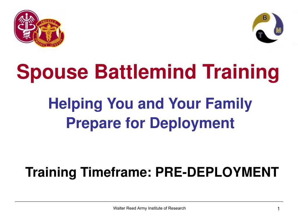 helping you and your family prepare for deployment training timeframe pre deployment l.