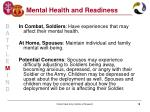 mental health and readiness