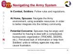 navigating the army system