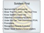 soldiers first