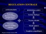 regulation centrale