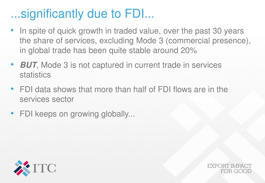 ...significantly due to FDI...