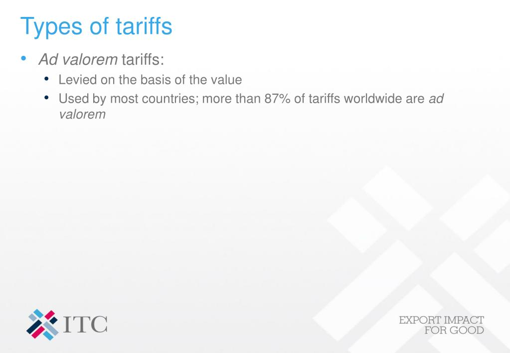 Types of tariffs
