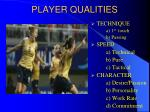 player qualities