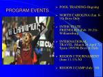 program events