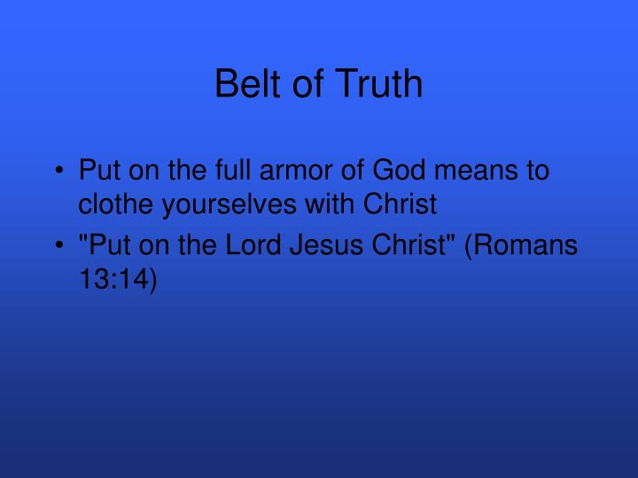 Belt of truth3