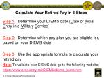 calculate your retired pay in 3 steps