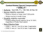 combat related special compensation crsc ii